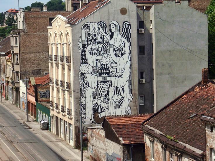 Murali savamale for Mural u vukovarskoj ulici
