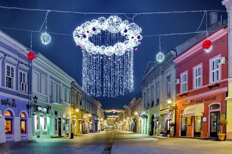 serbian cities under the christmas lights. Black Bedroom Furniture Sets. Home Design Ideas