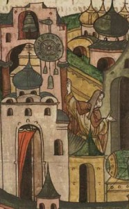 moscow tourist gems - Monk_Lazar_the_Serb_showing_Vasily_I_of_Moscow_the_clock_tower3333